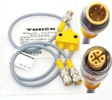 M12 TURCK U0943-19 PARALLEL cable VB2-RS 4.4T-03/RK 4T-0.3/0.3/SV  ID # U0943-19