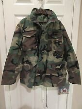 US Army  Woodland Camouflage Pattern Cold Weather Coat Meduim Long