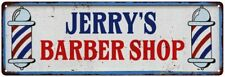 JERRY'S Barber Shop Hair Salon Personalized Metal Sign Retro 106180031249