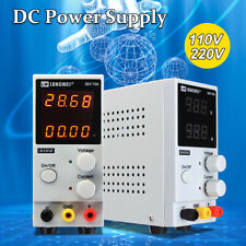 Adjustable 0-30V 0-10A 110/220V LCD DC Power Supply Precision Variable 4 Digital