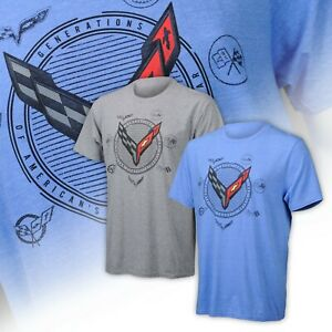 2020 Corvette C8 Mens Generations T-Shirt Choose Color 688200