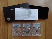 2015 March of Dimes Special Silver 3-Coins Set PCGS First Strike Label 69/69/70