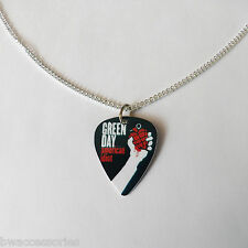 Greenday Green Day Billie Jo de Guitarra Pick Púa Tono Plata frenar Collar 24 ""