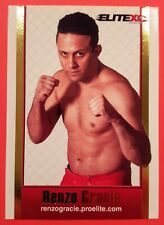 RENZO GRACIE 2008 ProElite EliteXC:Destiny Event DVD Insert MMA Rookie Card