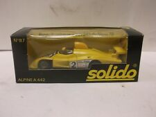 Solido No.87 Alpine A 442 In Yellow 1:43 Scale