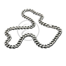 Men's Necklace 10mm Titanium Curb Chain Link Necklace