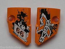 LEGO TECHNIC Orange panel fairing small 1 & 2 ref 87080 87086 / set quad 9392