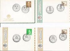 España España 1977 club Alhambra Granada Electronics Filatelia Sello tarjeta X 4