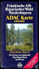 Verkehrskarte, ADAC, Deutschland Blatt 12, Die Donau von Ingolstadt bis Passau