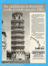 QUATTROR985-PUBBLICITA'/ADVERTISING-1985- EFFER - GRU OLEODINAMICHE