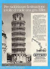 QUATTROR985-PUBBLICITA'/ADVERTISING-1985- EFFER - GRU OLEODINAMICHE