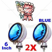 "2X 6"" Blue Angel Eye Halogen H3 Spotlights Spot Fog Light For Car Van Scooter"