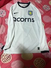 Used Aston Villa away long sleeve Nike jersey 2009-10 size L