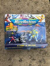 Galoob, Micro Machines, Power Rangers 74710 #1 Titanus Vs King Sphinx 1994 BNIB