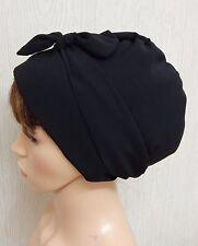 Black women's head scarf, sleeping head wrap, bad hair day bonnet, Muslim cap