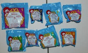 McDonalds Happy Meal Toys Disney The Little Mermaid Complete Set 1-8 Sealed NIP