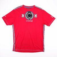 Vintage COOGI Red Big Embroidered Logo Casual Side Stripe T-Shirt Size Men's XL