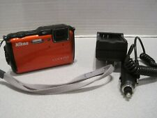 Nikon Coolpix AW120 - Rugged Underwater Compact Digital Camera - Orange +32GB