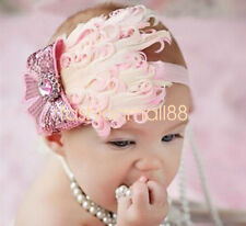 Newborn Baby Toddler Feather Headband Hair Acceessory Photography Prop