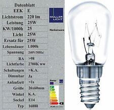 5x Sonderposten 25W Kühlschranklampe E14 Glühbirnen Glühlampen bis -30° 25x60mm