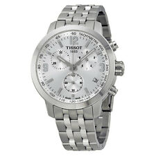 Tissot PRC 200 Chronograph Silver Dial Stainless Steel Mens Watch T0554171103700