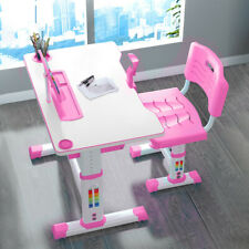 Height-adjustable children's study desk, table and chair set bookshelf desks
