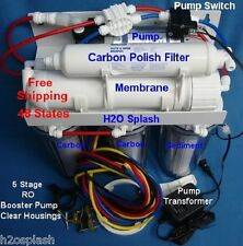 RO 80gpd 5 Stage Clear Booster Pump Reverse Osmosis System H2OSplash