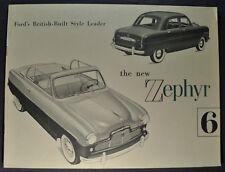 1953 Zephyr 6 English Ford Catalog Brochure Excellent Original 53 Canadian