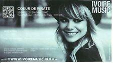 RARE / TICKET BILLET DE CONCERT - COEUR DE PIRATE A NICE ( FRANCE ) 2012