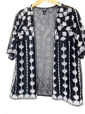 RafaellaLace Kimono Lace, White And Black Color 3/4 Sleeve Size M