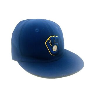 Milwaukee Brewers New Era Hat Infant Blue Fitted Size 6 Alt Classic Cap 48.3 cm