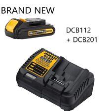 Genuine DeWalt DCB207 20V Li-Ion Battery with DCB107 20 Volt Battery Charger NEW