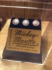 Mickey Mantle Westerns Jean Buttons and Label & Display