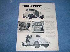 "1934 Ford Ohio George Montgomery Vintage Article ""Big Stuff"""