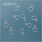 10PC Solid Sterling Silver Double Closed Jump Ring / Figure 8 Connector 33416
