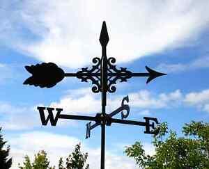 Kleine Wetterfahne Pfeil mit Ornament Wetterhahn Wetterpfeil Versandkosten Frei