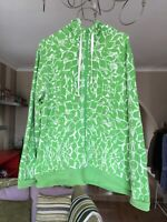Ladies The North Face Zip Up Jacket Size 20 Green Hooded Plus XL
