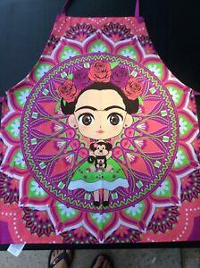 Frida Kahlo Apron Pink