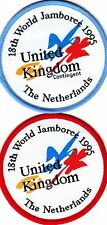 Scout/Guide Badges 18 WORLD JAMBOREE The NETHERLANDS 1995 UK Contingent+Join-In