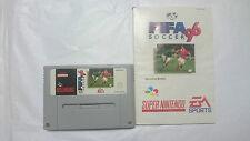 FIFA SOCCER 96 Y MANUAL SUPER NINTENDO SNES PAL EUR. ESPAÑOL.