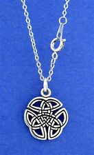 Pewter Celtic Trinity Knot Necklace with 18 inch chain