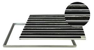 Eingangsmatte Aluprofil mit Rips+Gummi und Rahmen Fußmatte Türmatte Fußabtreter