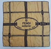 Foulard carré Fendi Roma sellerie 100% silk pura seta original made in italy