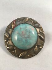 Stunning Arts & Crafts Pewter & Enamel Brooch by 'Prentice' of Chipping Campden