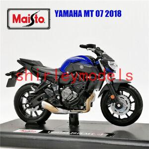 Maisto Modèle Réduit de Moto Miniature 2018 Yamaha MT-07 1/18