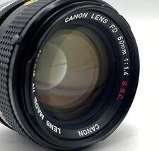 Canon FD 50mm f1.4 SSC Breech Lock Lens; Free Shipping