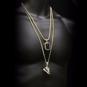 "14k Gold Plated Retro 11 ""Concord"" & Iced Black Ruby w/ Franco & Cuban Set"