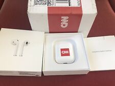 AWESOME CNN BRANDED Apple AirPods with Charging Case BRAND NEW in BOX NIB