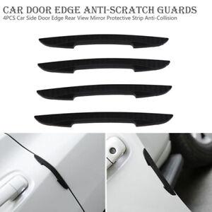 4pcs PVC Car Door Edge Guard Bumper Anti-Collision Moulding Strip Protectors