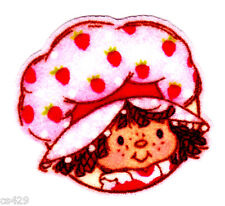 "2"" Strawberry shortcake head mini fabric applique iron on character"